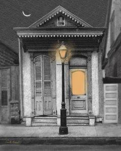French Quarter Lamp Light
