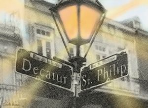 French Quarter Street Signs - Camille Barnes Studio