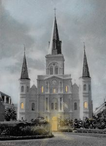 New Orleans St. Louis Cathedral - Camille Barnes Studio