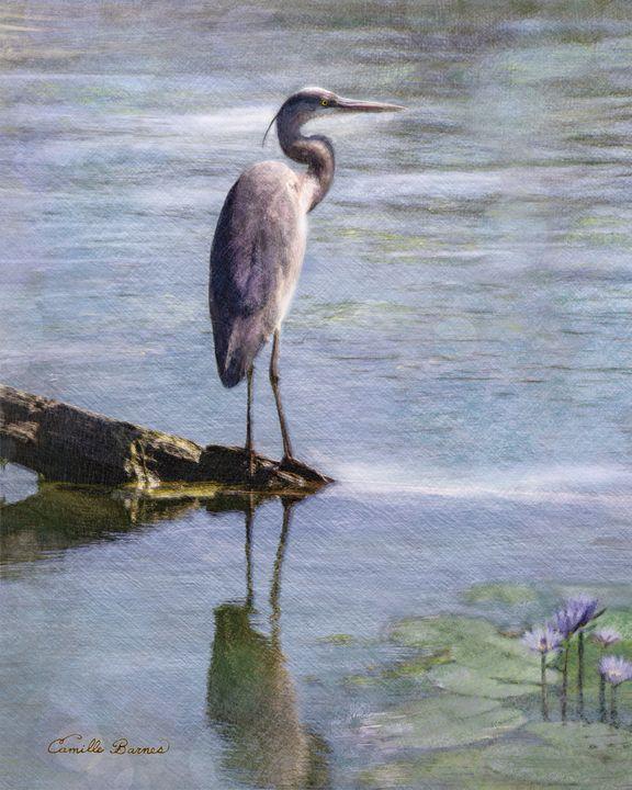 Bayou a bird -Egret on the bayou - Camille Barnes Studio