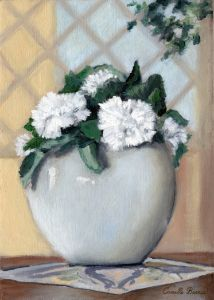 Vase of Carnations - Camille Barnes Studio