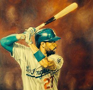 Matt kemp oil painting