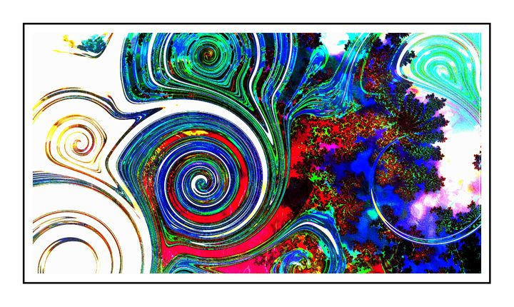 ABSTRACT SWIRLS - Trans Photo Digital Artistry