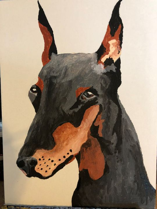 Doberman - Sallylu of Noah's Art