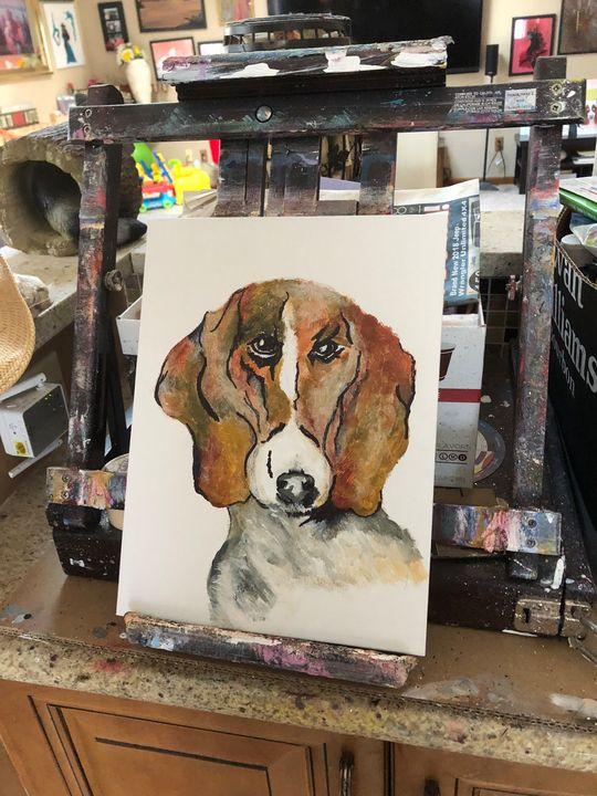 Beagle - Sallylu of Noah's Art