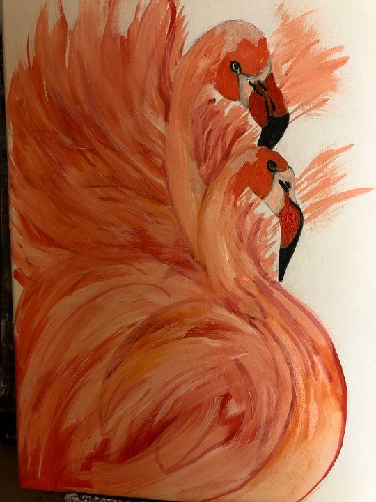 Flamingos - Sallylu of Noah's Art