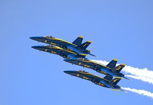 Blue Angels Flyby