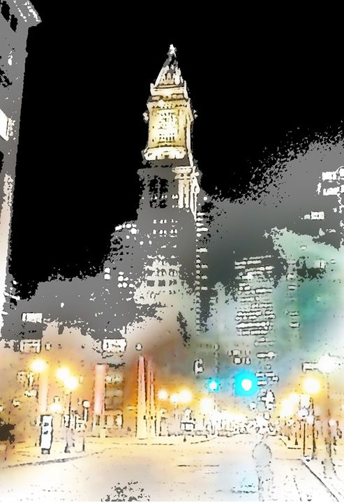 Boston Night - Sabra Image Prints
