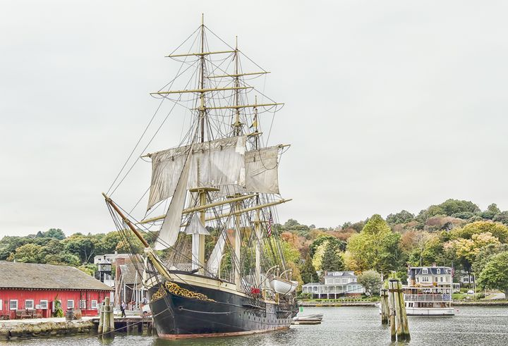 Mystic Seaport in Fall - Sabra Image Prints