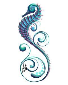 Filigree Seahorse (Transparent)