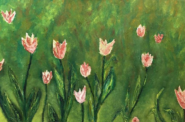 The green pink - JFN Art