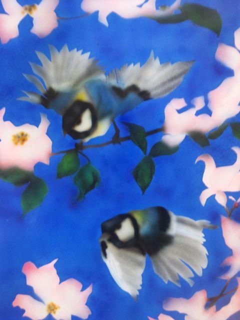 花水木に四十雀 - Airbrush Art  NORI.Y