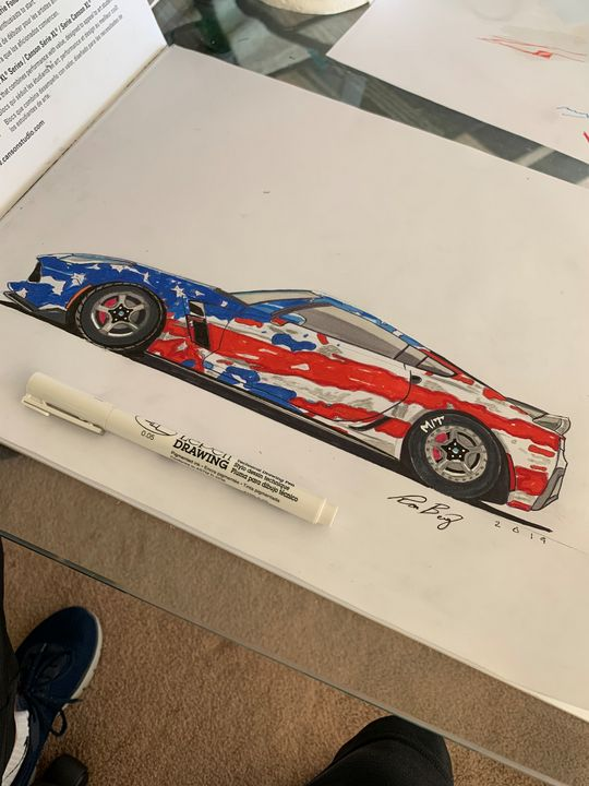 American flag themed corvette - Classic_Car_Designs