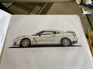 Nissan GTR rendering