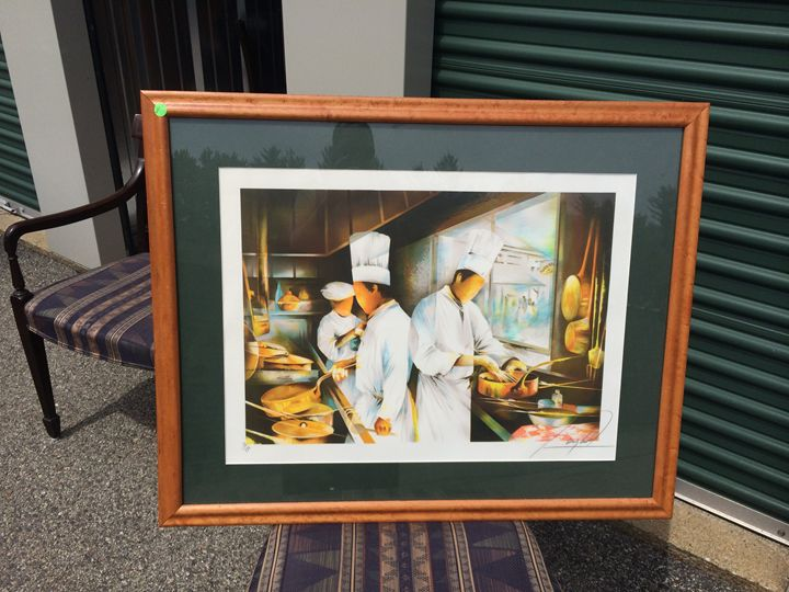 Chef painting - Tiffany