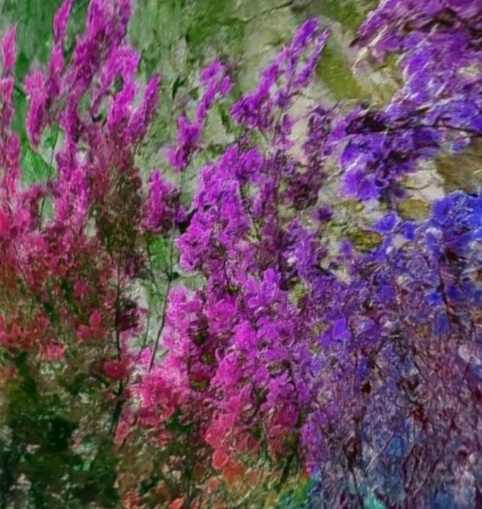 FLORAL BLOOMS IN APRIL - STEVEN SOLOMON'S ORIGINAL ARTWORK