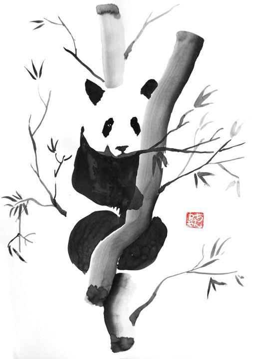 Panda - Pechane Sumi-e