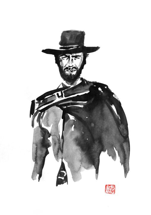 Clint Eastwood - Pechane Sumi-e