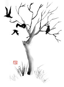 Tree & crows