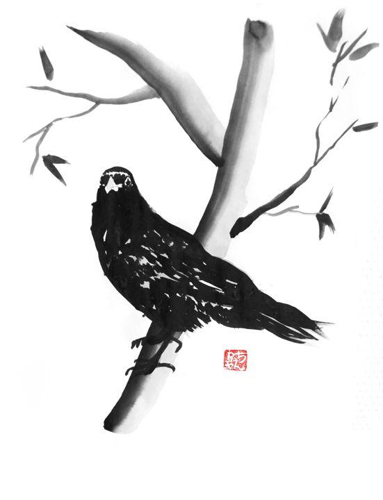 Crow - Pechane Sumi-e