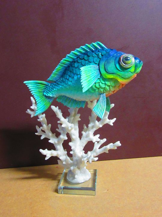 Fish and coral - Wood carvings by lLenny