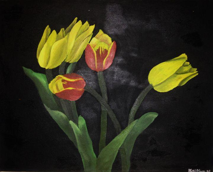 Flowers on Black - Kate Hults