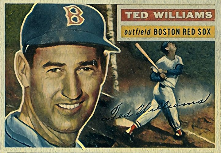 Ted Williams 1 1956 Topps - Gallery 18
