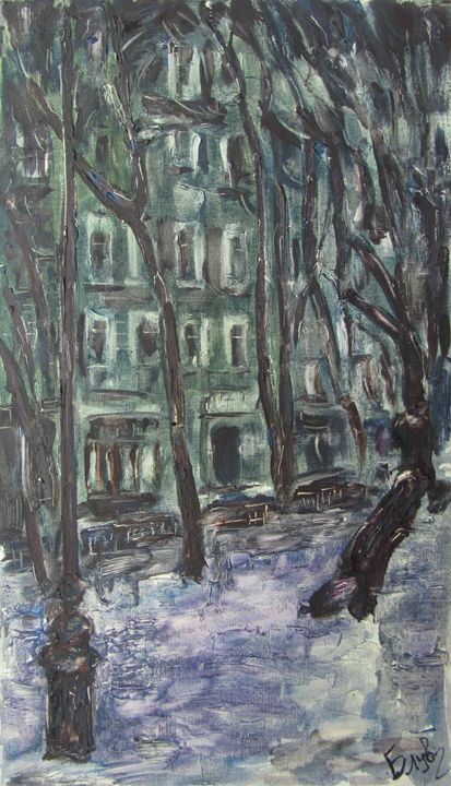 Boulevard in winter - BluvshteynArt