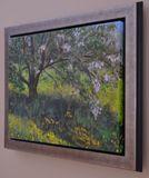Plein air acrylic painting
