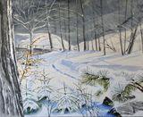 snowing winter scene