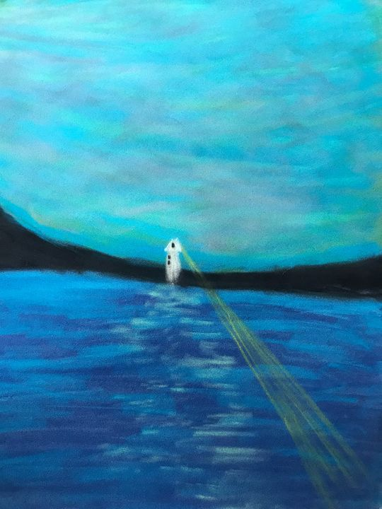 Lighthouse in Calm Sea - Mariam