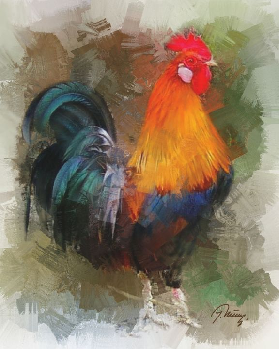 Rooster - Jovica Petrovic Art