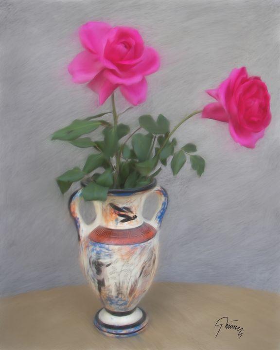 Ruže u vazi - Jovica Petrovic Art
