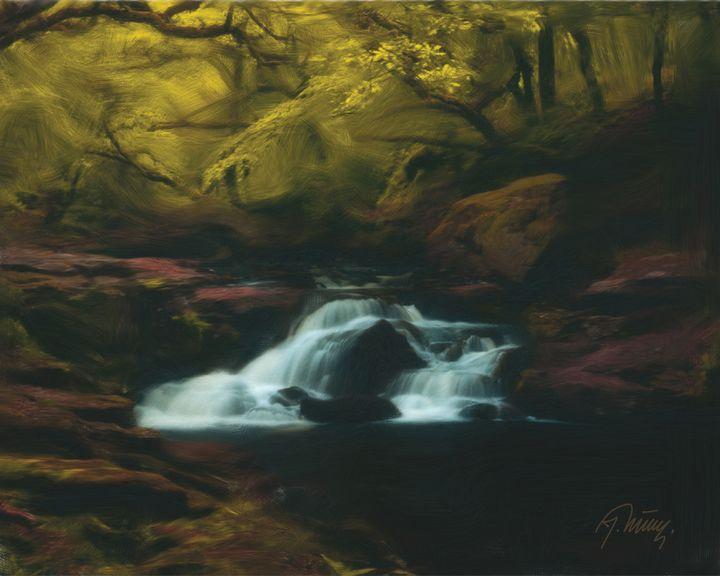 Vodopad u šumi - Jovica Petrovic Art