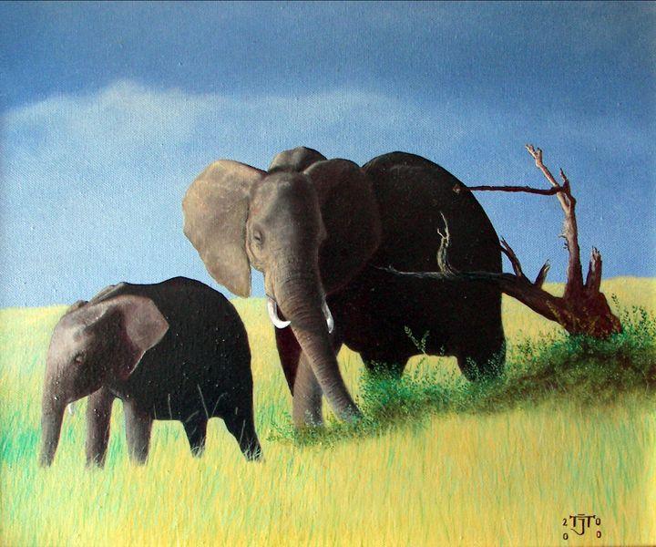 Elephants - Jovica Petrovic Art