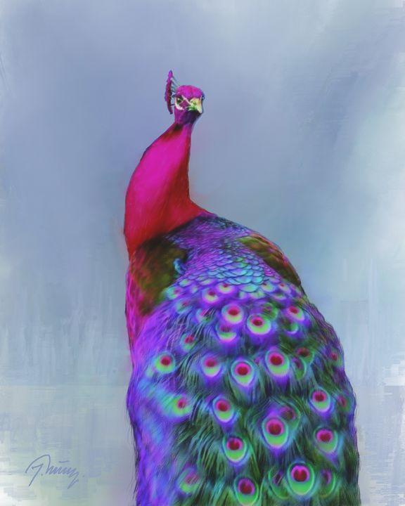 Beautiful Peacock - Jovica Petrovic Art