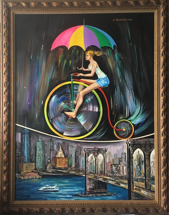 Woman in balance - Liubov Brizhatiuk / Luba