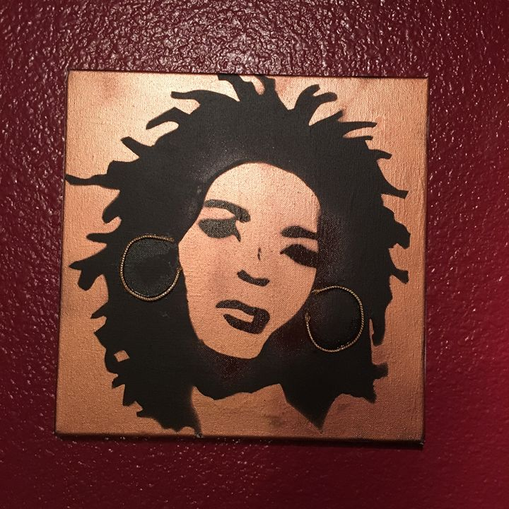 Lauryn Hill 12x12 rose gold - Jlow Art
