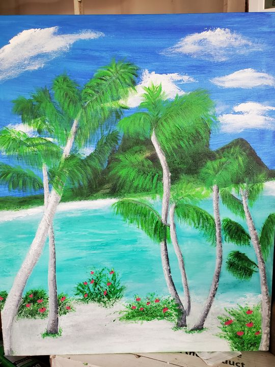 A day at the Beach - Rough Around the Edges Art