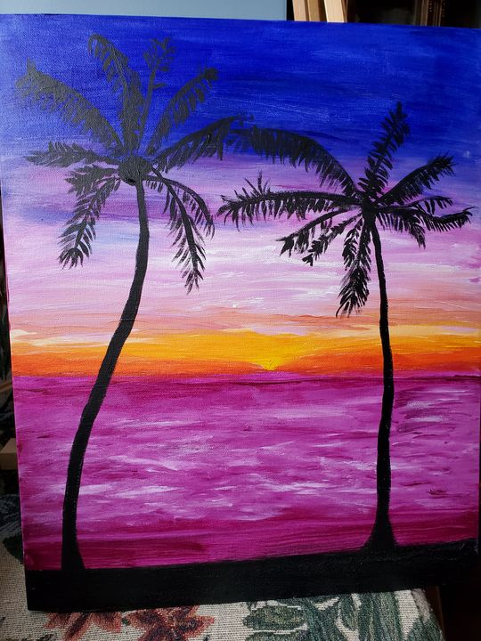 Palm Trees and Sunsets - Rough Around the Edges Art