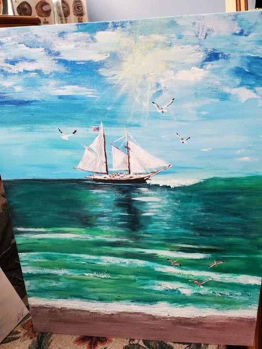 Gone Sailing - Rough Around the Edges Art