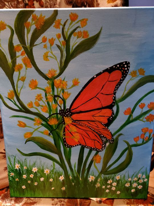 Monarch Butterfly - Rough Around the Edges Art