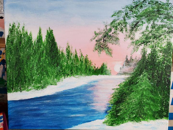 Winter Stream - Rough Around the Edges Art