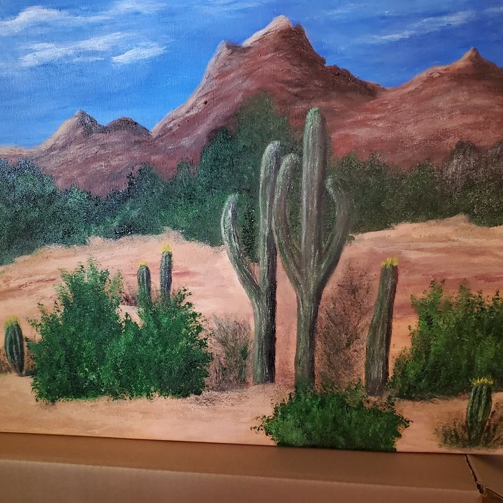 Arizona Desert - Rough Around the Edges Art