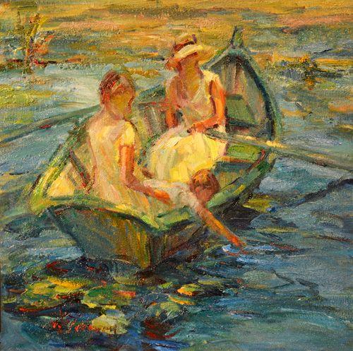 At the Pond (study) - Diane Leonard Studios