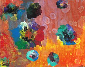 Flower garden abstract