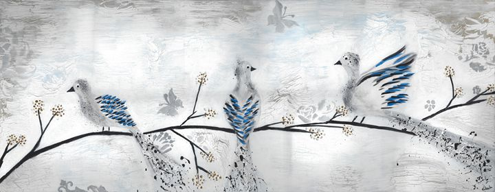 Three Birds on a branch - Vatsala Sinha