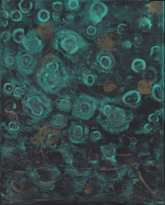 Jelly fish in dark Ocean - Vatsala Sinha