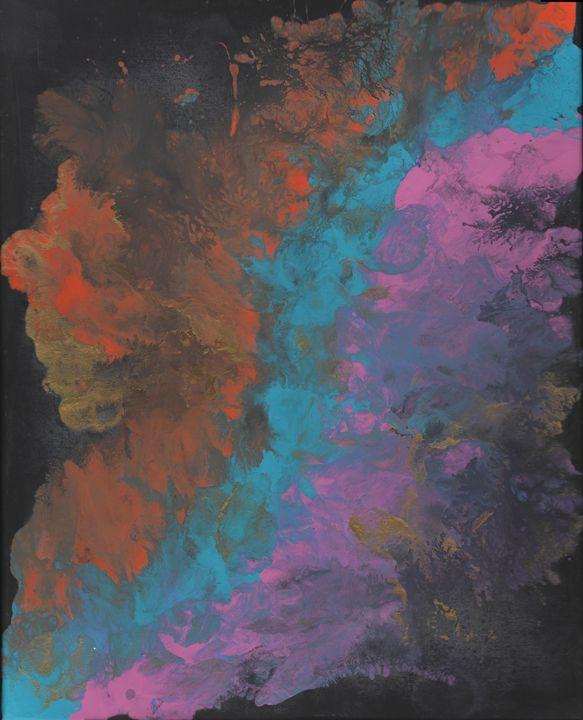 Trio fluid abstract with gold - Vatsala Sinha