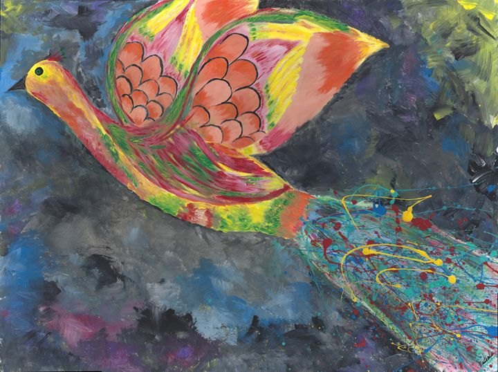 Bird flying in horizon - Vatsala Sinha